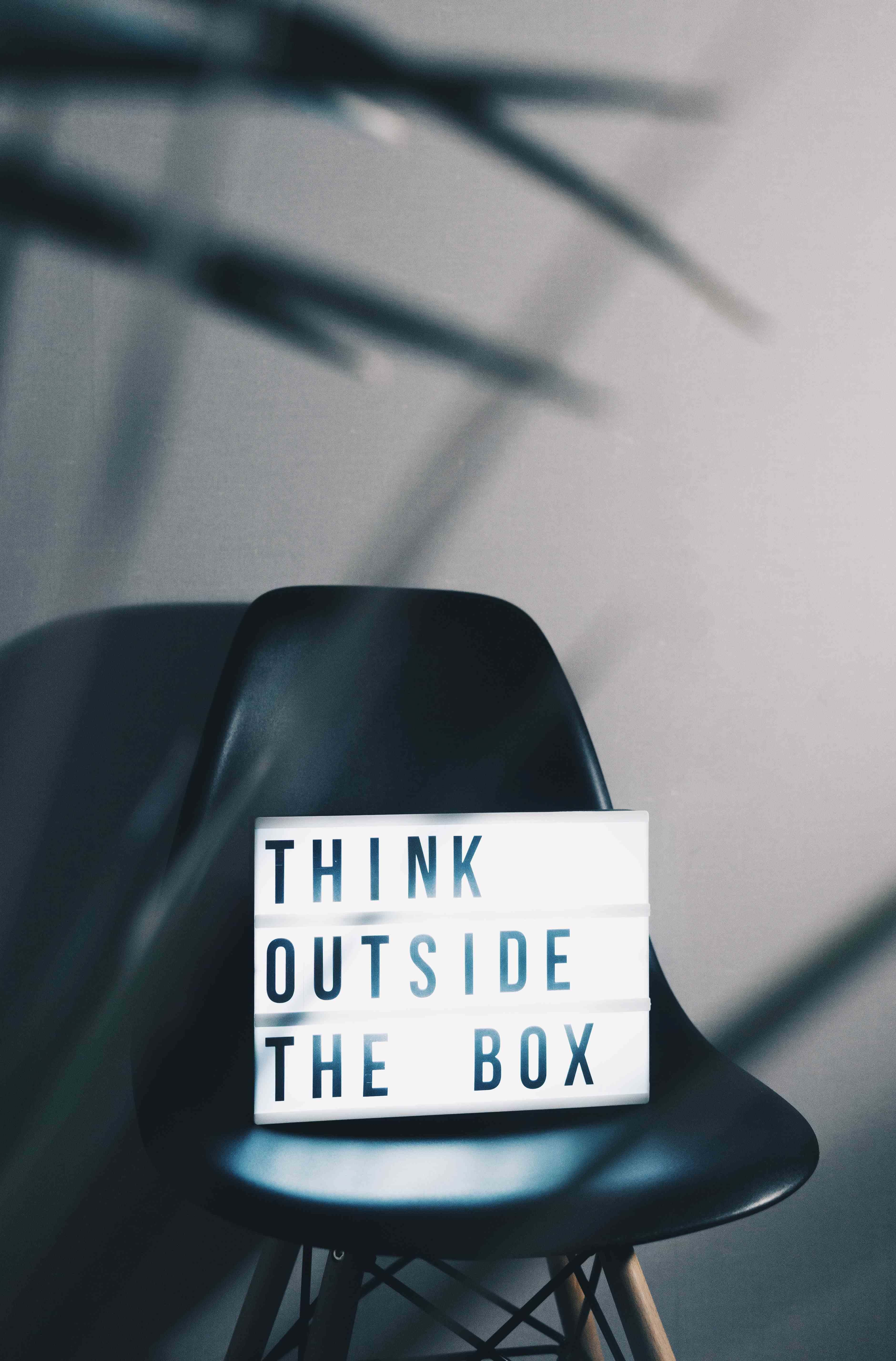 Think Outside the Box on a lightbox